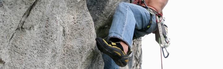 <strong>Beim Klettern werden die Füße hohen Belastungen ausgesetzt.</strong>© Martin Pühringer